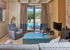 Grand Villa With Private Pool - Igoumenítsa - Living room