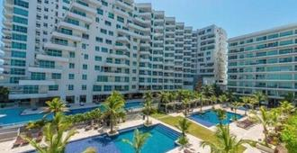 1me2 Apartment In Cartagena In Front Of The Sea With Air Conditioning And Wif - Cartagena - Pool