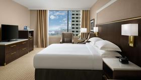 Hilton Indianapolis Hotel & Suites - Indianapolis - Schlafzimmer