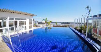 波圖市中心歐式酒店 - 陝濘跡誠 - 阿雷格里港 - 游泳池