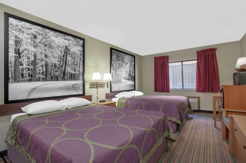 Super 8 by Wyndham Evansville East - Evansville - Bedroom