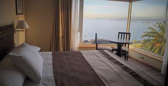 聖地亞哥德阿爾馬格羅瓦爾帕萊索酒店 - 法爾巴拉索 - Valparaiso/瓦爾帕萊索 - 臥室