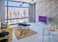 Dream Inn Dubai Apartments - Index Tower - Dubai - Living room
