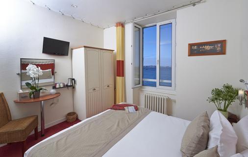Hôtel Aux Tamaris - Roscoff - Schlafzimmer