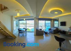 Luxury Apartment with Seaview - Fethiye - Living room