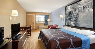 Super 8 by Wyndham San Antonio/Riverwalk Area - San Antonio - Bedroom