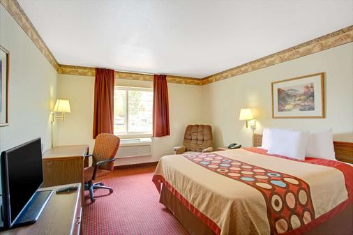 Super 8 by Wyndham Salt Lake City Airport - Salt Lake City - Bedroom