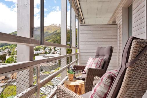 達沃斯阿美隆瑞士山中酒店 - 達弗斯 - 達沃斯 - 陽台