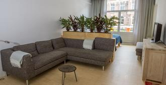 Beautiful&brightcentral Located Private&triple Glass Isolatedw Big Balcony - Amsterdam - Living room