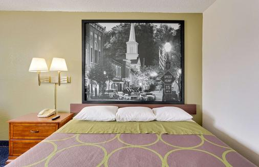 田納西詹森城速 8 酒店 - 約翰遜城 - 約翰遜城 - 臥室
