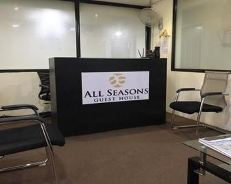 All Seasons Guest House - Margao - Front desk