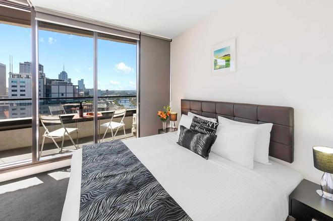 Aura On Flinders Serviced Apartments - Melbourne - Phòng ngủ