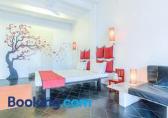 Treebo Trip Red Lotus Heritage Pondicherry - Puducherry - Phòng ngủ