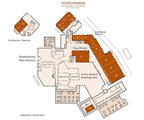 法蘭克福史蒂根伯格酒店 - 法蘭克福 - 法蘭克福 - Floorplan
