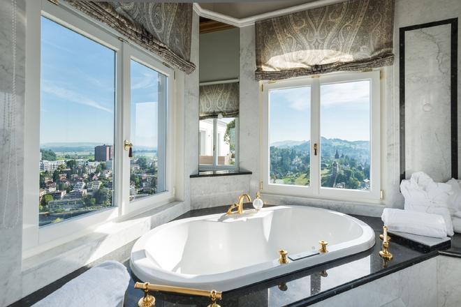 蓋曲莊園酒店 - 盧森 - 琉森 - 浴室