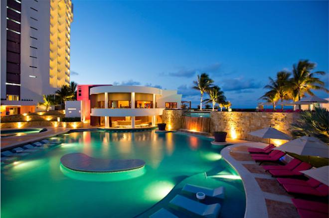坎昆克里斯塔爾蓬塔大酒店- - Cancun/坎康 - 游泳池