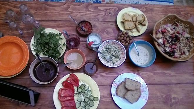 Lotus Garden Hostel - Izmir - Dining room