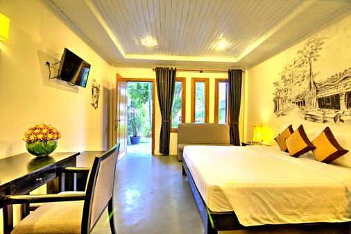 La Residence Blanc D'Angkor - Siĕm Réab - Makuuhuone