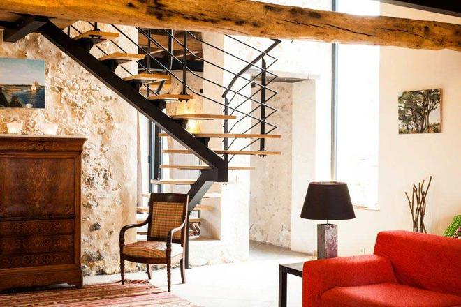 Hotel Les Herbes Folles - Mauregard - Living room