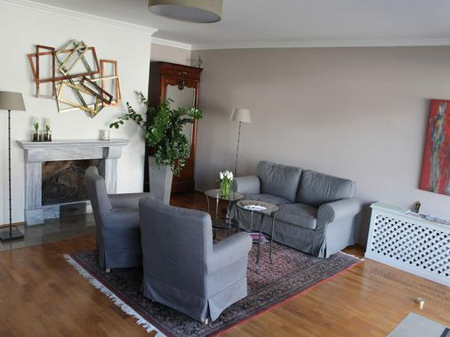 Hotel Garni Bellevue - Bad Fuessing - Living room