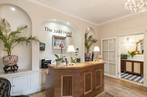 Judd Hotel - London - Front desk