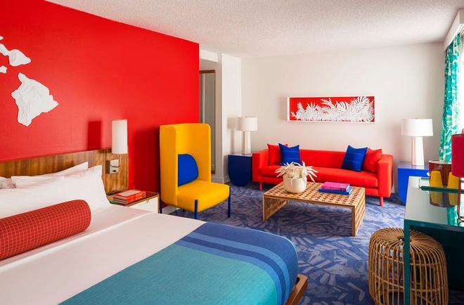 威基基海岸線酒店 - 檀香山 - 客廳