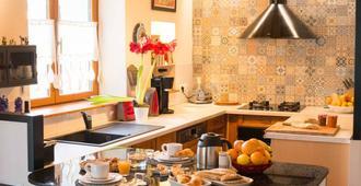 Chambres D'hôtes J'irais Dormir A Lyon - ליון - מטבח