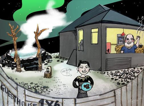Guesthouse 1X6 - Keflavik - Front desk