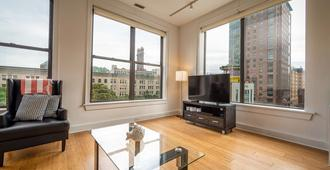 Downtown Boston Furnished Apartment - בוסטון - סלון