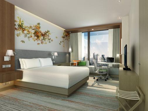 Hilton Garden Inn Shanghai Hongqiao - Shanghai - Schlafzimmer