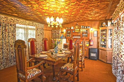 New Golden Flower Heritage Houseboat - Srinagar - Phòng ăn