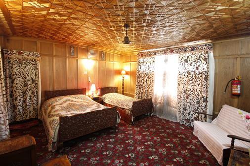 New Golden Flower Heritage Houseboat - Srinagar - Phòng ngủ