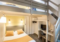 莫朗庭院酒店 - 里昂 - 里昂 - 臥室
