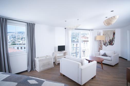 Casa Galos Hotel & Lofts - Valparaíso - Makuuhuone