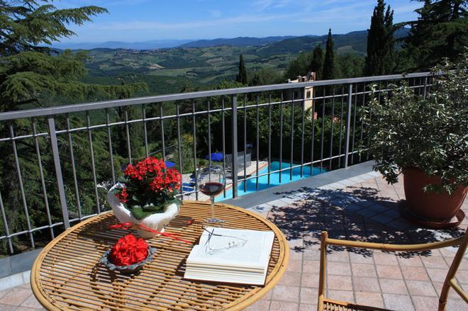 Villa Sant'Uberto Country Inn - Radda In Chianti - Parveke