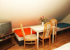 Pension Strohbach - Lichtenhain - غرفة نوم